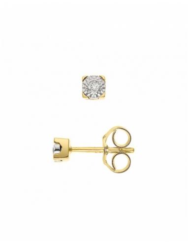 Boucles d'Oreilles Solitaire Diamants