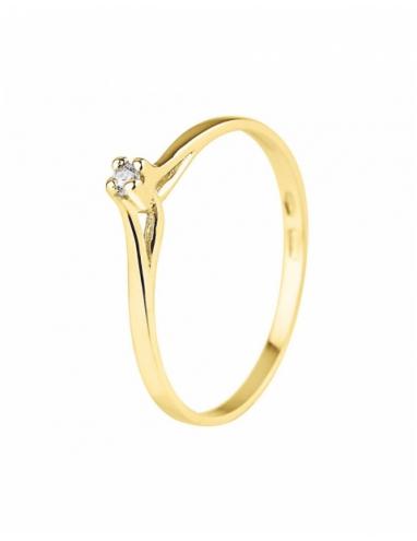 Bague Solitaire Diamants Or