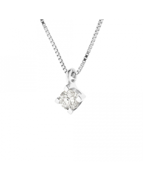 Collier Diamant Solitaire Or