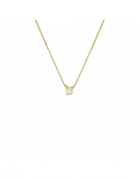 collier or diamant solitaire