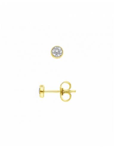 Boucles d'Oreilles Diamants Or